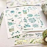 Papier - papierové nálepky Rastlinky III - 2 hárky - 10029852_