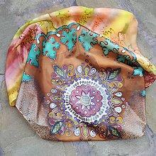 Šatky - V cípe harmónie-hodvábna maľovaná šatka - 10029933_