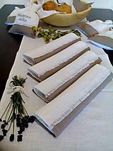Úžitkový textil - Ľanové vrecúška na bylinky, huby, sušené ovocie..... - 10031574_