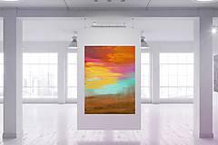 Obrazy - Keď všetky listy opadnú - veľký pestrofarebný abstraktný obra - 10030900_