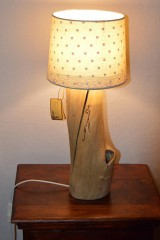 Svietidlá a sviečky - Black Elder - lampa z dreva bazy čiernej - 10032187_