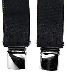 Doplnky - Pánske traky na klip jednofarebné (čierne) - 10029974_