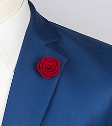 Šperky - Vlnená kvetina do klopy - 10030541_