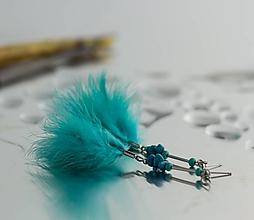 Náušnice - pierkové náušnice s tyrkysom - 10032465_