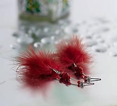 Náušnice - pierkové náušnice - morský korál - 10032502_