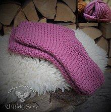 Obuv - Vlnené ponožky, extra hrubé (Ružová) - 10031783_
