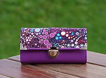 Peňaženky - Peněženka bubliny 19x10cm, 18 karet, na fotky - 10031604_