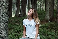 Tričká - Ručne kreslené tričko s líštičkou - 10030196_