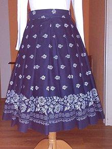 Sukne - Skladaná sukňa bordura Xl - 10031656_