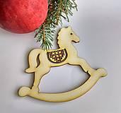 Dekorácie - Vianočná ozdoba Koník veľký - 10031543_