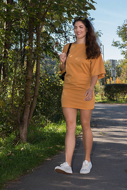 Šaty Naty -horčicová   miracles.style - SAShE.sk - Handmade Šaty 201b3922e3c