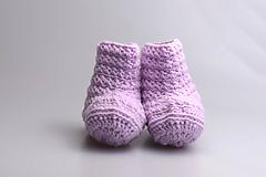 Topánočky - VÝPREDAJ! Bledofialové čižmy EXTRA FINE - 10030104_