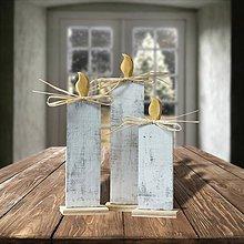 Dekorácie - Vianočné drevené sviečky - 10029016_