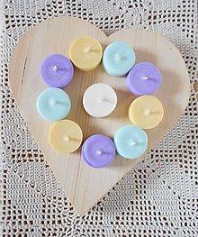 Svietidlá a sviečky - Sójové čajové sviečky FAREBNÁ SADA - 10029959_