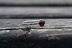 Granát prsteň Ag 925