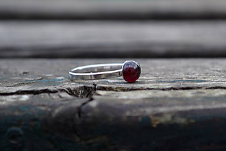 Prstene - Granát prsteň Ag 925 - 10030116_