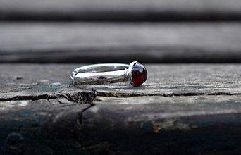 Prstene - Granát prsteň Ag 925/1000 - 10030187_