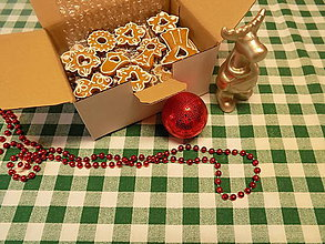 Dekorácie - Dekoračné medovníčky na vianočný stromček - 10030045_