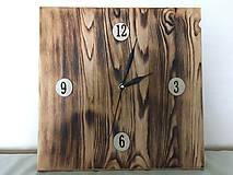 Hodiny - Drevené nástenné hodiny s charakterom - 10031705_