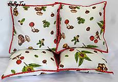 Úžitkový textil - Hubové vankúše - 10031089_