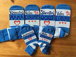 Obuv - Maľované pásikavé ponožky s nápisom: - 10032299_