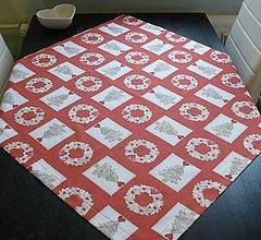 Úžitkový textil - Obrus - vianočný  85 x 85 cm - 10031053_