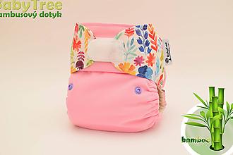 Detské doplnky - Zeme kvet (pink) - Kapsovka s bambusovým dotykom (veľ. M-L-XL) - 10032562_