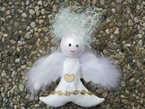 Dekorácie - Traja Anjely - anjelik pre prvoprijímajúceho. - 10030841_