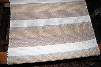 Úžitkový textil - Tkaný koberec hnedo - bielo - sivý - 10032460_