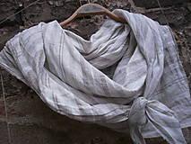 Šatky - Velký lněný šátek-pruhovaný - 10033825_