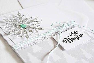 Papiernictvo - Vianočný pozdrav - 3D hviezda strieborná - 10035100_