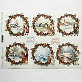 - Ryžový papier na decoupage -A4-R1474 - Vianoce, domček - 10033303_