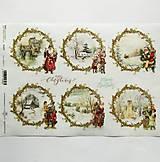 - Ryžový papier na decoupage -A4-R1475 - Vianoce, deti, sneh - 10033308_