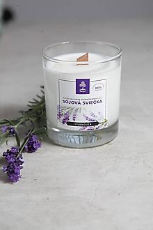 Svietidlá a sviečky - Aromaterapeutická sójová sviečka  - Levanduľa - 10034104_
