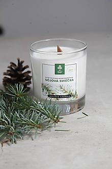 Svietidlá a sviečky - Aromaterapeutická sójová sviečka - Sibírska jedlička - 10034137_
