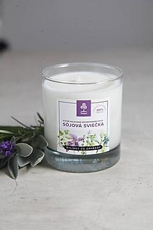 Svietidlá a sviečky - Aromaterapeutická sojová sviečka - Bylinky od babičky - 10034306_