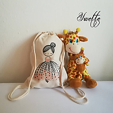 Detské tašky - YWETTE: pre deti - DIEVČATKO S KVIETKAMI - 10033935_