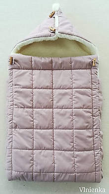 Textil - RUNO SHOP fusak pre deti do kočíka 100% ovčie runo MERINO TOP super wash ELEGANT DUSTY Pink staroružový - 10032805_