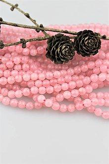 Minerály - ruženín korálky fazetované 6mm - 10035809_