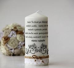 Svietidlá a sviečky - Dekoračná sviečka k narodeninám - 10034146_