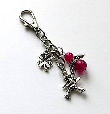 """Kľúčenky - Kľúčenka """"kominár"""" s minerálovým anjelikom - Jadeit - 10033237_"""