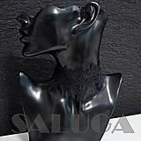 Náhrdelníky - Choker - náhrdelník - čierny - paličkový - 10033936_