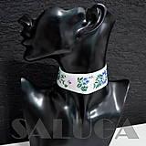 Náhrdelníky - CHOKER náhrdelník - folk - folklórny - ružový - 10033954_