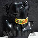 Náhrdelníky - CHOKER náhrdelník - folk - folklórny - žltý - 10033959_
