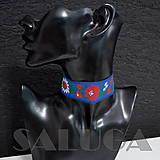 Náhrdelníky - CHOKER náhrdelník - folk - folklórny - modrý - 10033970_