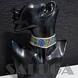 Náhrdelníky - CHOKER náhrdelník - folk - folklórny - hnedý - 10033974_
