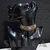 Náhrdelníky - CHOKER náhrdelník - folk - folklórny - čierny - 10033987_