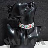Náhrdelníky - CHOKER náhrdelník - folk - folklórny - biely - 10033992_