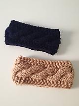 Ozdoby do vlasov - Tmavo-modrá  alebo  Béžová - 10033844_