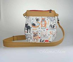 Detské tašky - detska kabelka - francúzsky buldog - 10033549_